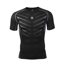 2019 New Mens Compression Shirts Quick Dry Fitness Tight Running T High Elastic Gym Clothing Sport Shirt Sportswear