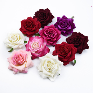 10PCS 10CM Silk roses head wedding Bride holding flowers material home decoration accessories scrapbook artificial flowers cheap