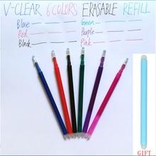 Löschbaren Stift Schreibwaren Refill Reibung Gel Stift Büro Liefert Zeichnung Reibung Refill Stift Student 6 Farben 0,7mm Radiergummi Stift