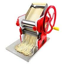Máquina manual de prensado de masa, máquina de fideos, máquina de pasta de acero inoxidable, comercial, ancho de rollo de fideos de 18cm