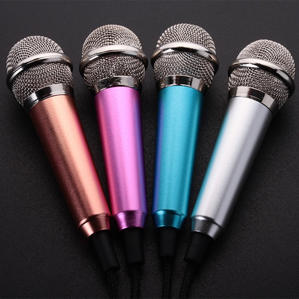 MINI Jack 3.5mm Studio Lavalier Professional Wired Microphone Handheld Mic Karaoke For Singing Gaming For Mobile Phones PC Hot