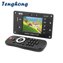 Tenghong 2.8Inch Bluetooth 5.0 MP3 Decoder Player HD 7 24V Multimedia Video Decoding Module AUx USB TF Card DIY Sound Amplifiers