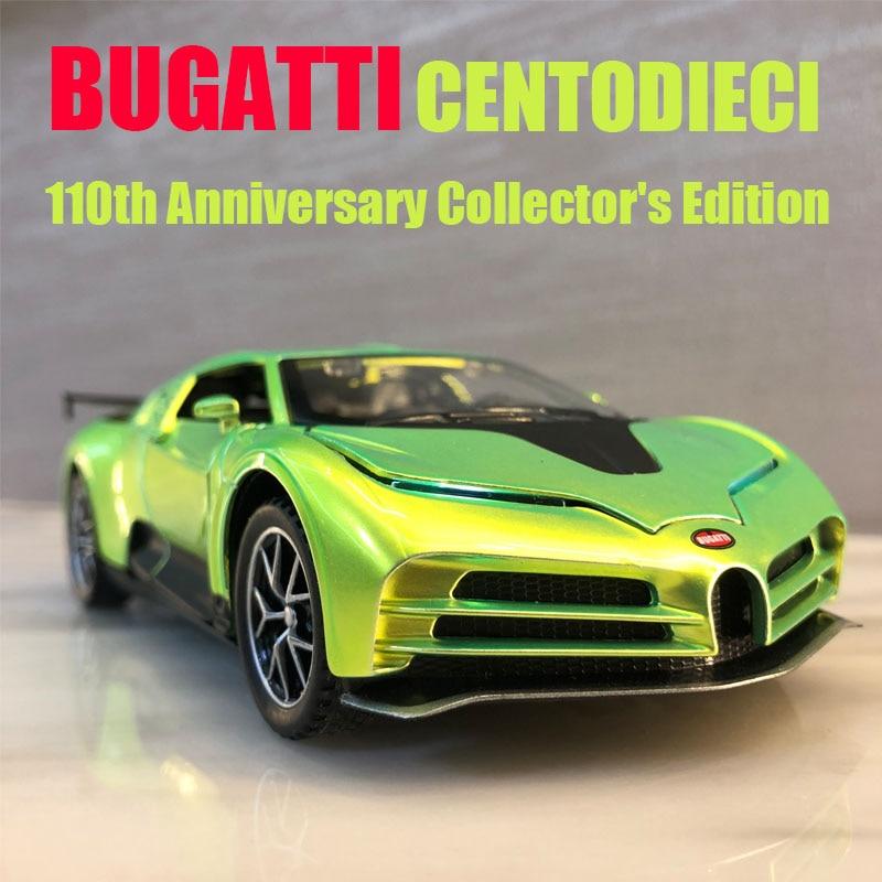 1:32 Bugatti Centodieci Die Cast Alloy Car Model 110th Anniversary Edition Collectibles Children's Toys Free Shipping