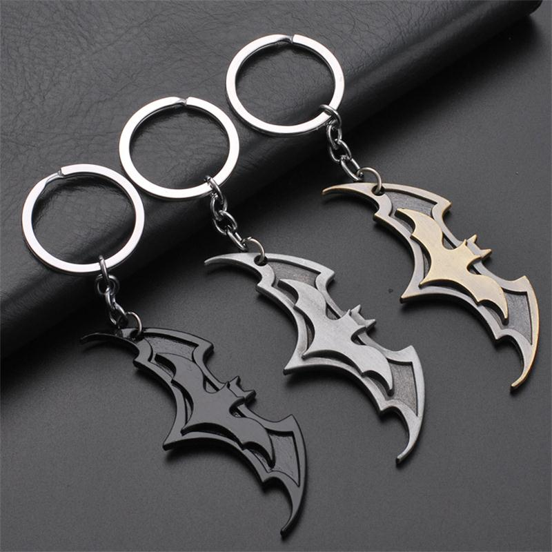 Fashion Batman Keychains Movie Series Metal Batman Key Chain Pendant For Children Bag Key Chain Gifts Bag Pendant image