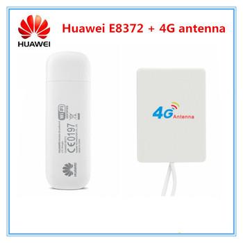 Odblokowany E8372 E8372h-153 E8372h-608 150 mb s 4G LTE modem wifi + 28DBI 4G wzmacniacz sygnału anteny podwójne TS9 złącze tanie i dobre opinie Huawei Wewnętrzny wireless Zdjęcie Wcdma Huawei E8372