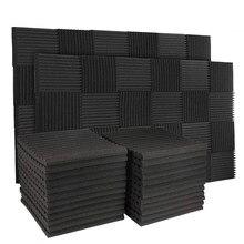 50 pces 12 slot fogo-retardador à prova de som algodão som-absorvente algodão ovo som-absorvente painel de parede