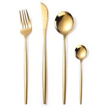 Juego de cubiertos de mesa de plata y acero inoxidable para niños, Set de utensilios de cocina, cucharas y tenedores, 4 Uds.