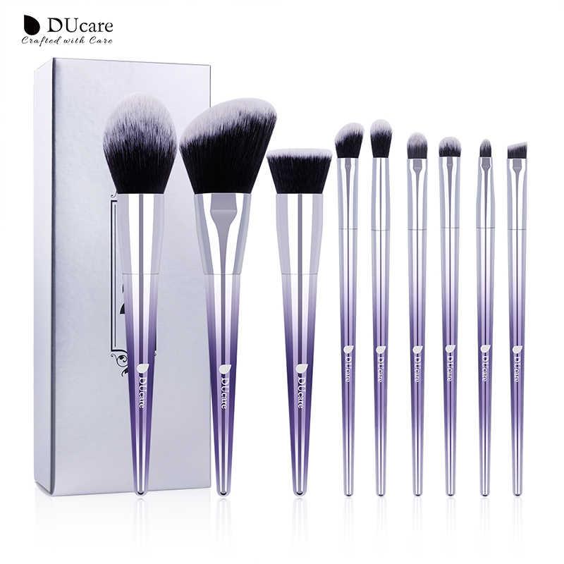 DUcare pinceaux pour maquillage 9/17 pièces brosse ensemble fard à paupières poudre sourcil fond de teint brosse cheveux synthétiques maquillage outils cosmétiques