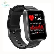 HopoFit T68 inteligentny zegarek mężczyźni Smartwatch zegarki Fitness ciśnienie inteligentny zegarek wodoodporny inteligentny zegarek marki Android