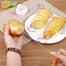 Stainless Steel Potato Spiral Cutter Rotating Potato Chip Tower Slicing Machine Manual Twist Potatoes Special Kitchen Gadgets