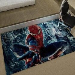 Marvel Spider-Man fashion dywan do sypialni do okna nocna mata do prania osobowość koc Gradient dywanik do salonu