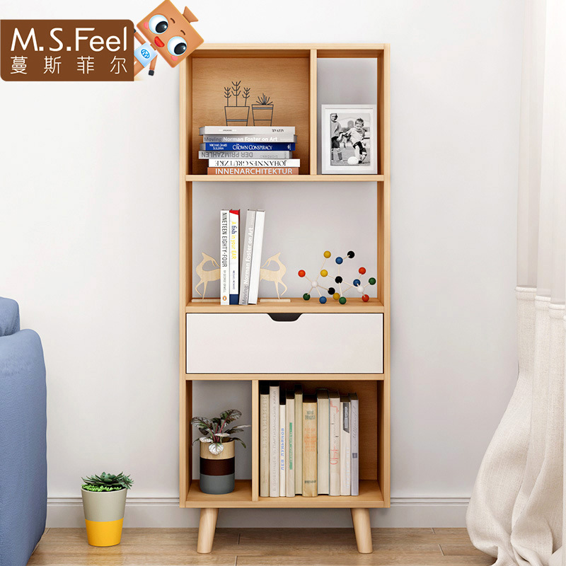 Bookshelf Northern European-Style Bookcase Floor Small Bookcase Modern Minimalist Living Room Storage Rack For Office Storage Ra