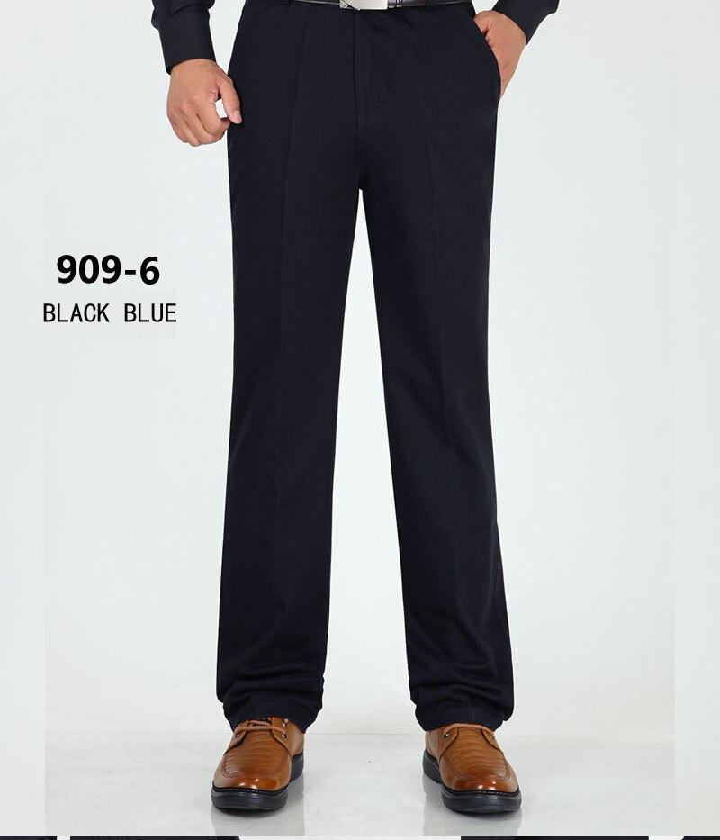 H2f5709165a884a39982c7c417c3ccbcep New Design Autumn Casual Men Pants Cotton Loose Male Pant high waist Straight Trousers Fashion Business Pants Men Plus Size 42