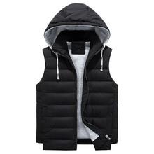 купить Vest Men 5XL 6XL 8XL Plus Size Winter Warm Fashion Casual Body warmer Vest Coat Waistcoat Hooded Zipper Sleeveless Jacket Male дешево
