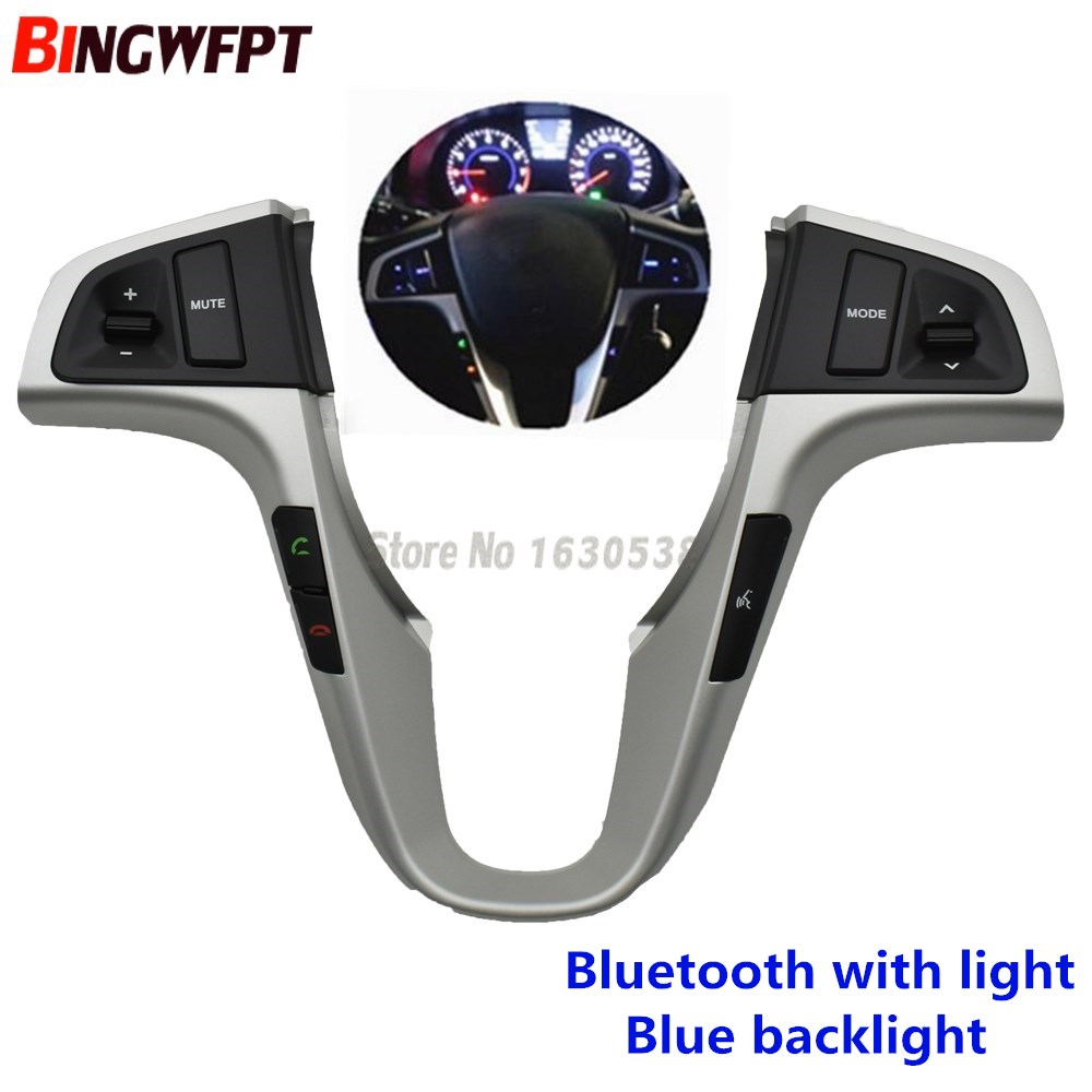 Кнопка рулевого колеса для Hyundai VERNA SOLARIS, кнопка управления громкостью аудио и музыкой, переключатель с подсветкой