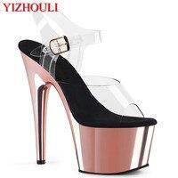 Sommer 6 inch plattform schuhe, 15 cm galvani stiletto heels, pole dance schuhe