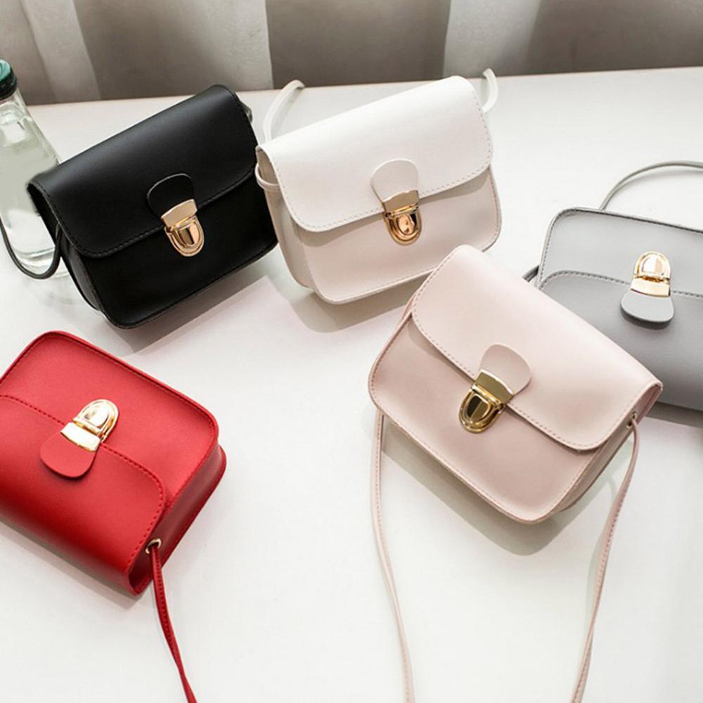2020 New Small Leather Handbags Women Red Pink Crossbody Bags Lock Design Ladies Mini Shoulder Messenger Bags Sac A Main