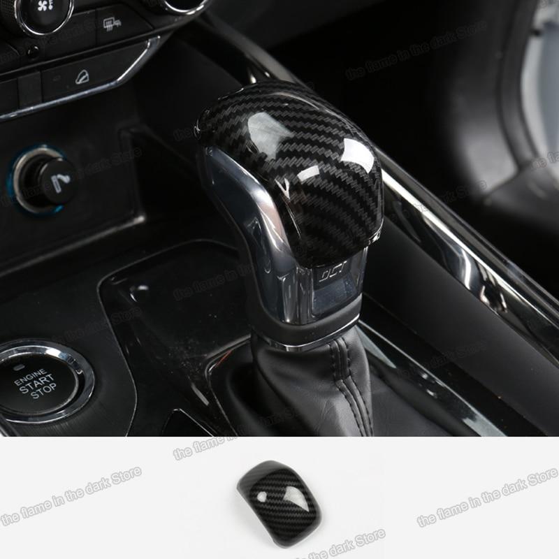 Lsrtw2017 for Chery Tiggo 8 Car Gear Lever Head Trims Interior Accessories 2018 2019 2020 Carbon Fiber Sticker Knob Auto(China)