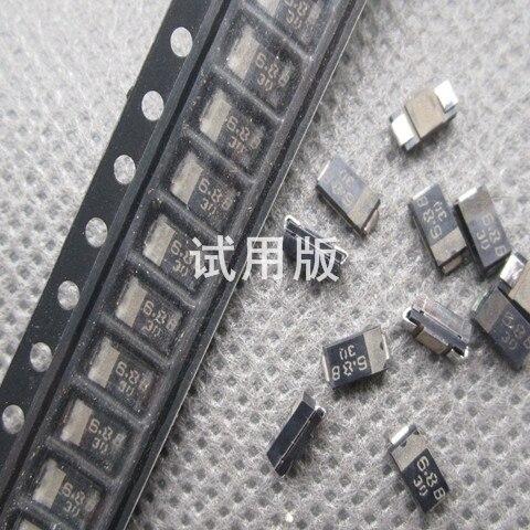 30pcs 100% Orignal New SMD Zener Diode PTZ6.2B 6.2V PTZ6.8B 6.8V 1W SMA DO-214AC