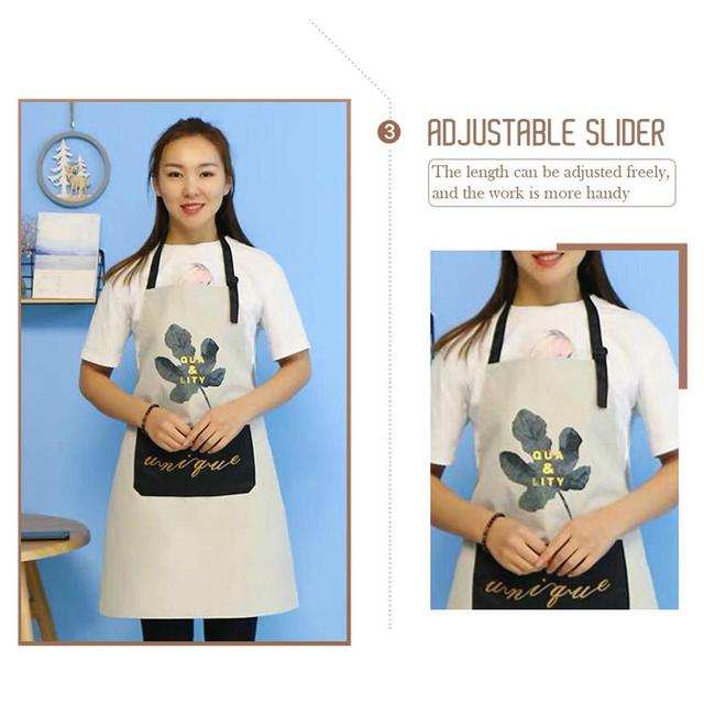 1Pcs Striped Waterproof Polyester Bib Apron Woman Adult Bibs Home Cooking Baking Coffee Shop Cleaning Aprons Kitchen Accessory 5