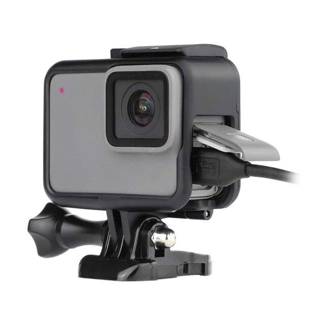 עבור GoPro 7 אבזר ערכת הגנת מסגרת עדשה + LCD מסך מזג זכוכית סרט עבור ללכת פרו גיבור 5 6 7 פעולה מצלמה