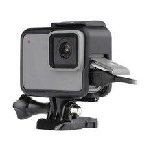 GoPro 7 aksesuar kiti koruma çerçevesi Lens + LCD ekran temperli cam filmi git Pro Hero 5 için 6 7 eylem kamera