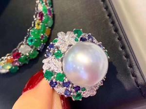 Image 4 - D113 Fine Pearl แหวนเครื่องประดับ 925 เงินสเตอร์ลิงธรรมชาติสดน้ำ 15 14mm สีขาว Peals แหวน fine ไข่มุกแหวน