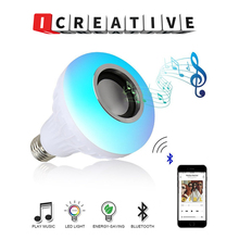 Wireless Bluetooth Speaker 12W RGB Bulb LED Lamp Smart Led Light Music Player Audio with Remote Control Colorful Music Bulb