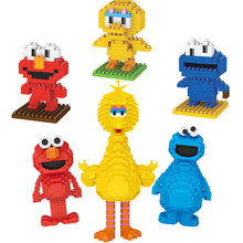 In America figure Del Fumetto micro blocco di diamante Sesames Strada mattoni ELMO BIG BIRD COOKIE MONSTERS nanobricks giocattoli PER IL ragazzo regali(China)