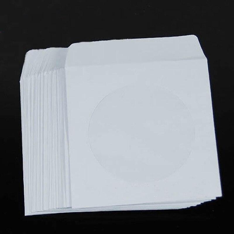 50 шт в наборе, 5 дюймов Бумага компакт-дисков DVD откидной Чехол Крышка конверты комплект
