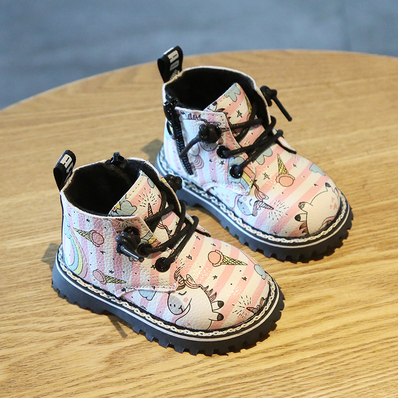 Cartoon Unicorn Leather Boots 2