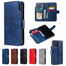 Caso carteira de couro para o iphone 12 11 pro max 12 mini x xr xs 6 7 8 plus 5 5S slot para cartão magnético suporte casos de telefone capa etui