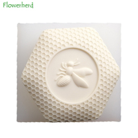 Honeycomb Silikon Form Bee Seife Mold Food Grade Kuchen Dekorieren Werkzeuge Einfach Zu Entformung Handgemachte Seife Handwerk für Diy Seife maker