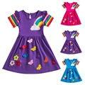 Для девочек, пачка для маленьких девочек платье принцессы платье миди платье для празднования дня рождения, вечерние Выходные туфли на выпу...