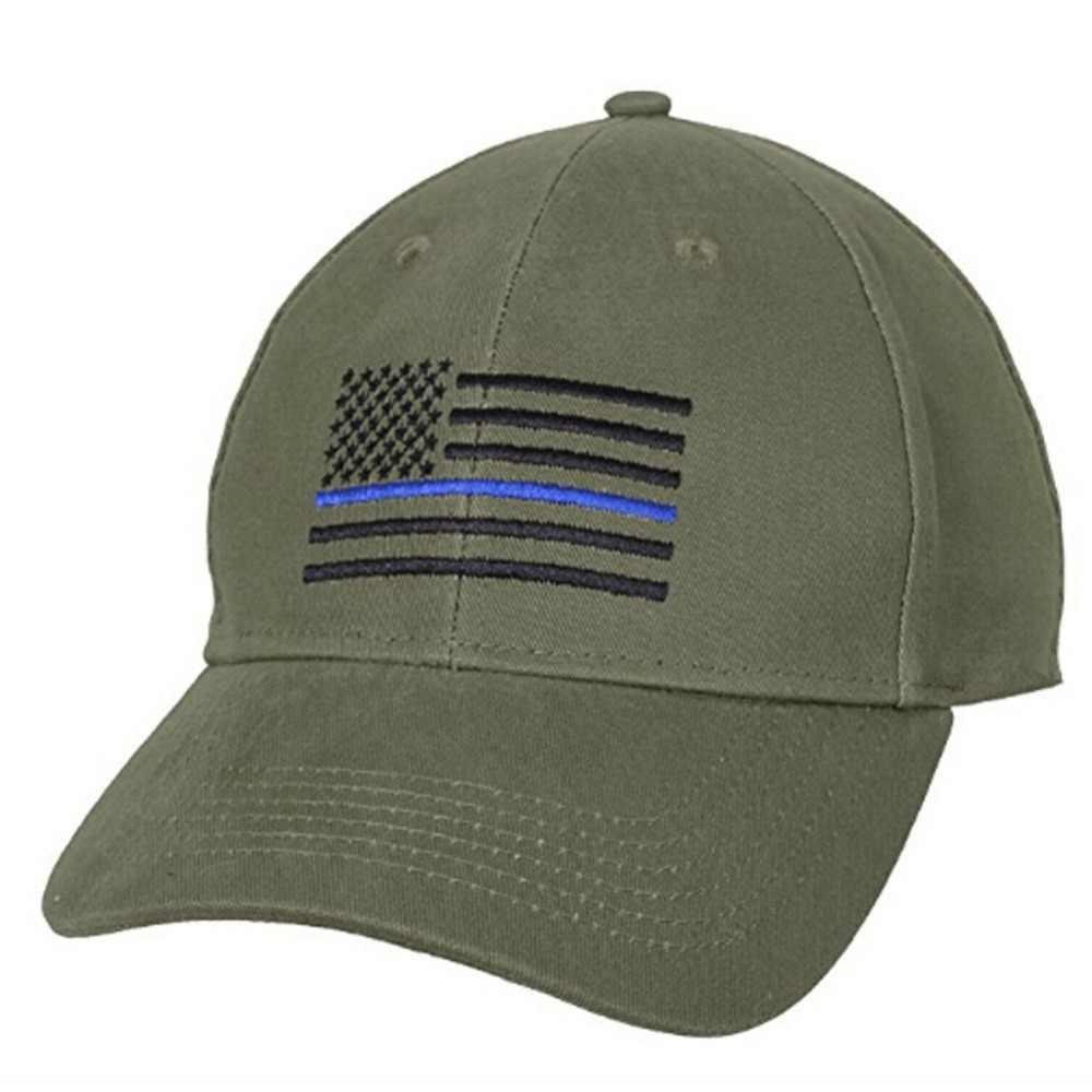 אמריקאי דגל דק כחול קו דגל טקטי כובעי לחוק משטרת אכיפת חזרה את כחול רקום כובע