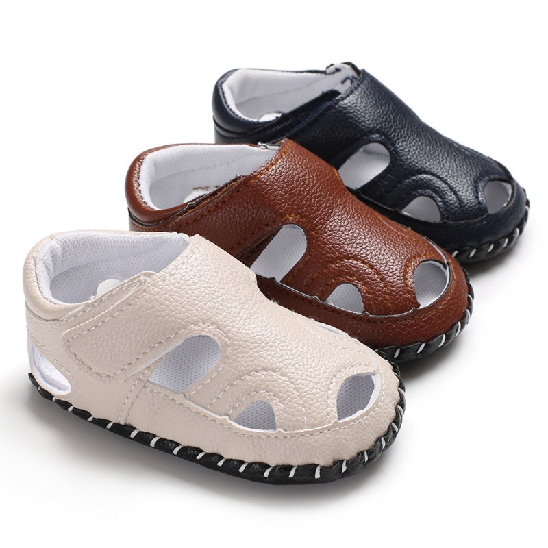 2020 Newborn Baby Boy Girl Sandals Soft Sole Shoes Toddler Leather Sandals Prewalker Summer Baby Shoes 0-18M