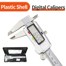 Electronic Digital Caliper Measuring Instrument Pied A Coulisse Micrometer Ruler Metal Stainless Steel Vernier Calipers Tools