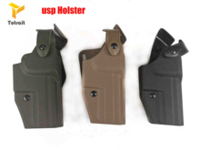 Military Army Tactical HK USP Compact Gun Holster Carry Case Right Hand Quick Drop Belt Hunting Airsoft Gear bla