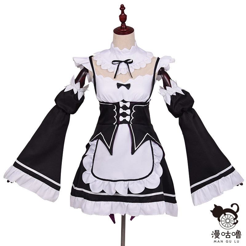 Anime Re:zero Kara Ram Rem Cosplay Costume cosplay anime Wig  Halloween Costume Maid Dress anime cosplay Plus size  clothing 2