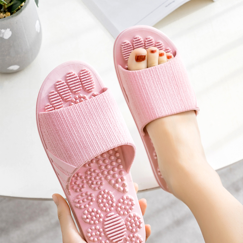 Acupoint Foot Massage Slippers Women Men Bow Foot Home Relax Slippers Acupoint Reflexology Massages Sandals