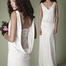 Vintage colección romántica novia encaje vestido de fiesta largo vestidos de boda 2019 vestido de novia robe de mariee vestido de novia