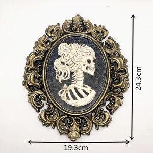 Image 5 - Moule en silicone de mariée pour crâne créatif, Halloween, cadre photo, décoration personnalisée, barre, bricolage concret en résine