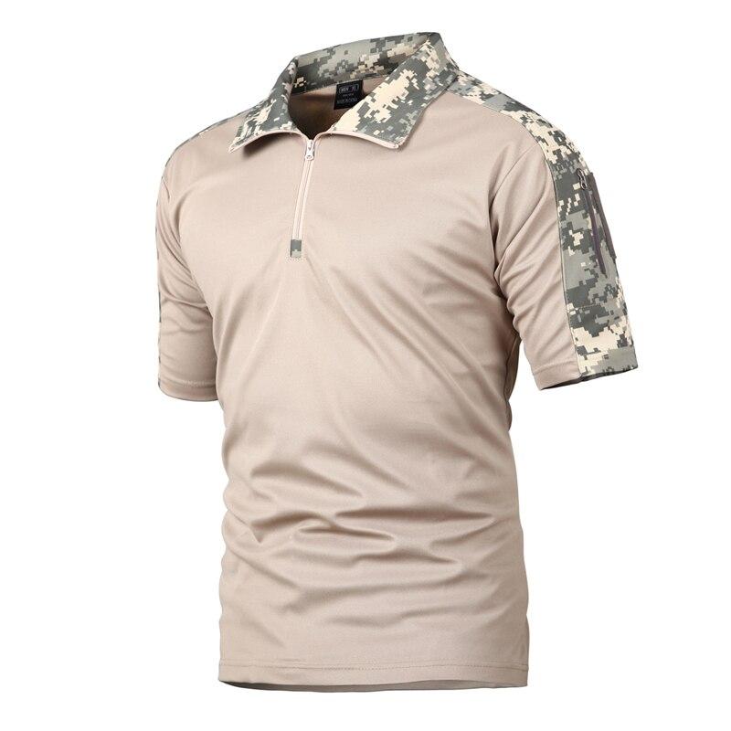 Schönen Sommer Taktische Camouflage T Shirt Männer Schnell Trocken Military Uniform T Shirt Atmungsaktiv Wicking Armee Kampf T Shirts - 3
