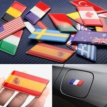 1 pz adesivo emblema bandiere in alluminio epossidico 3D per Mercedes Benz Honda Peugeot chevruolo Nissan BMW accessori impermeabili