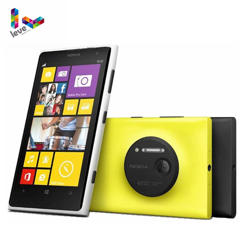 Nokia Lumia 1020 Windows Unlocked Phone 32GB Camera 41MP GPS Wifi 4.5 Screen Original Nokia L1020 Mobile Phones image