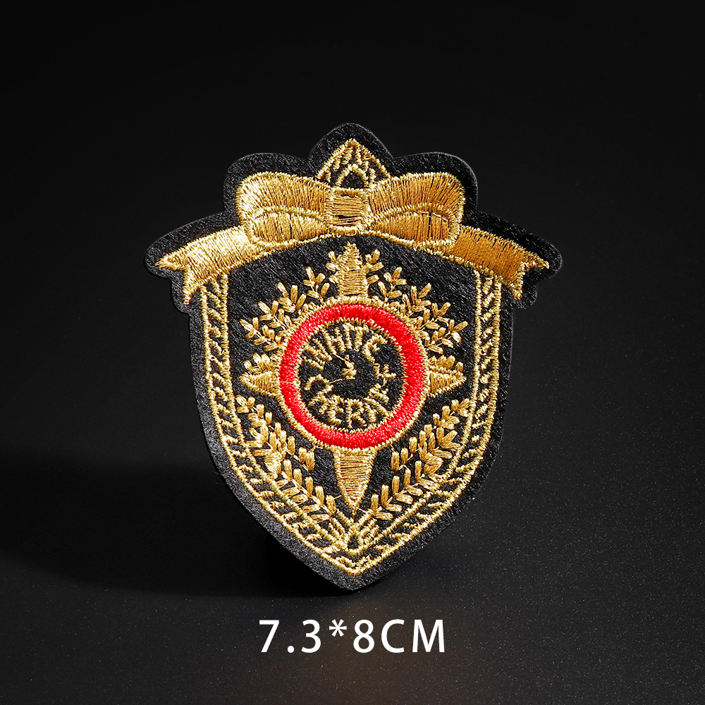 Iron On Lion Crown Crest Emblem Embroidery Applique Patch Sew Iron Badge