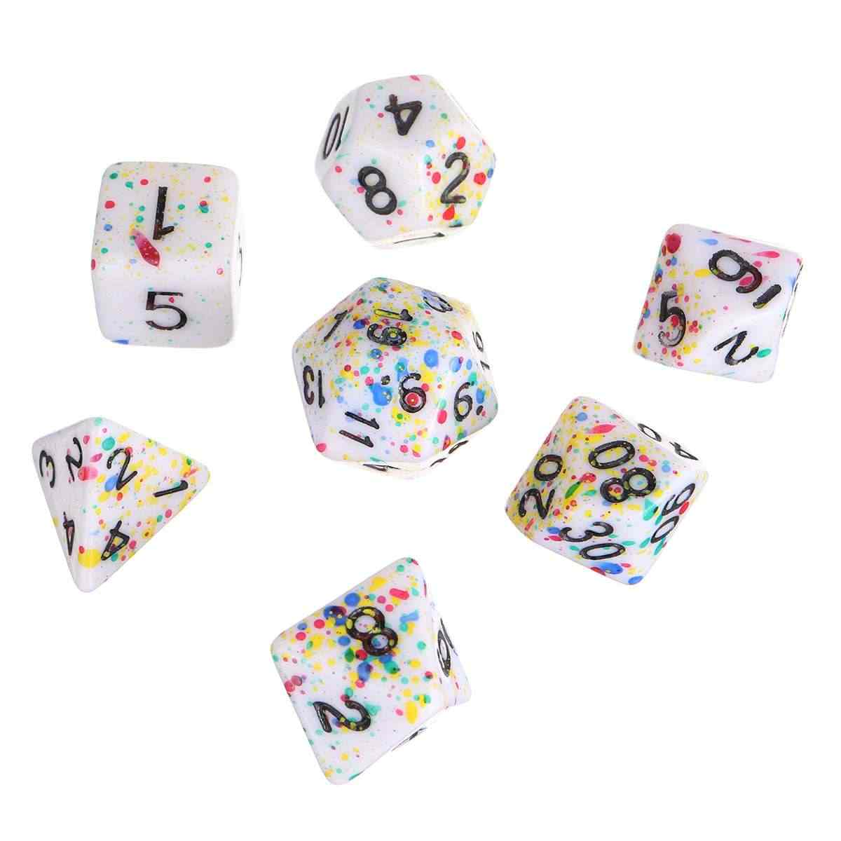 7x Polyhedral Dices Double-Color D20 D12 D10 D8 D6 for Dungeons /&Dragons RPG