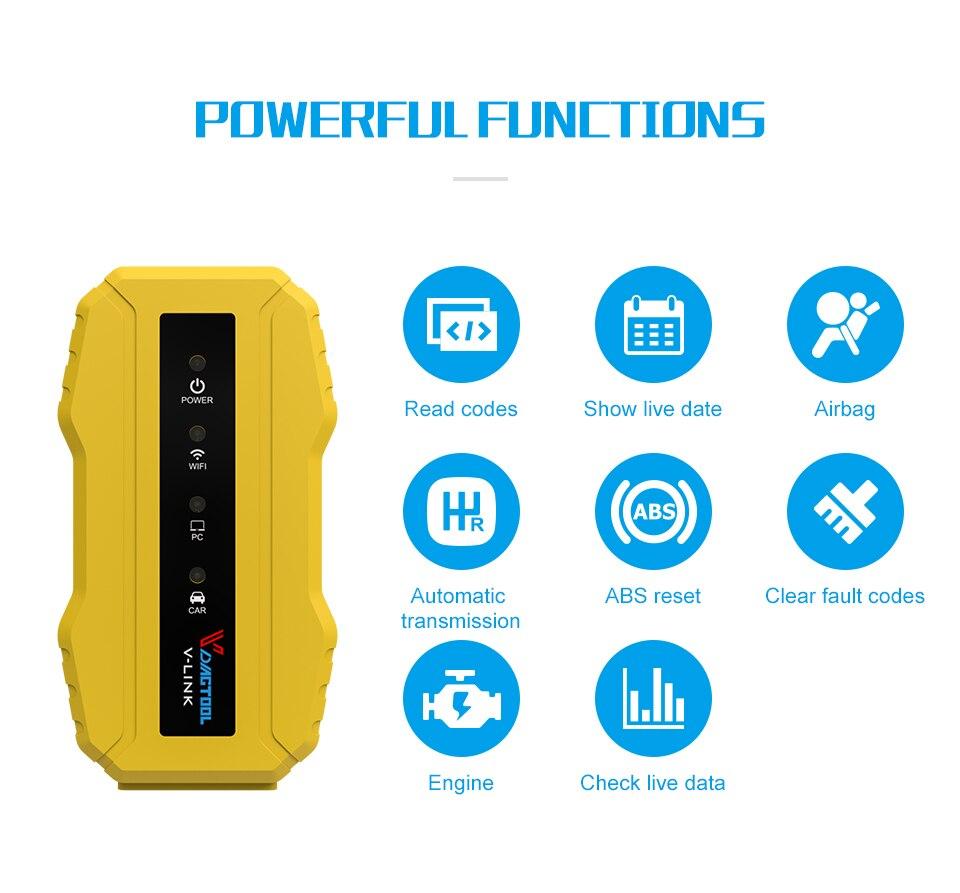 OBD2 диагностические инструменты для CAT3/для Cummins Inline 6 с Wifi/USB сверхмощный грузовик сканер автомобильный Коммуникационный адаптер