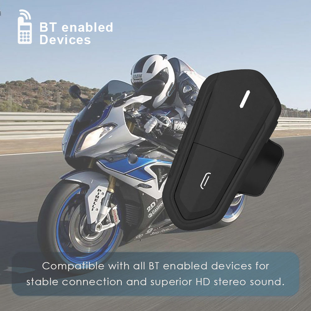 QTB35 Motorcycle Helmet Headset For Moto Rider Helmet Accessories Casco De Moto Auriculares Headphones FM Radio Blue/Black