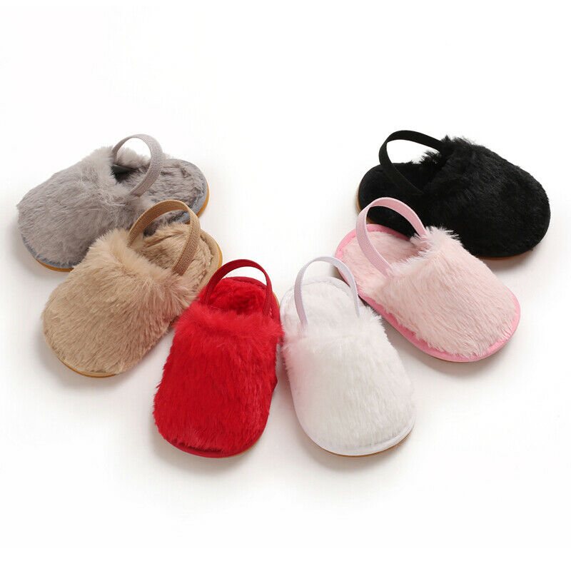 Newborn Toddler Girl Fur Sneakers Baby Girl Summer Shoes Soft Sole Sandals